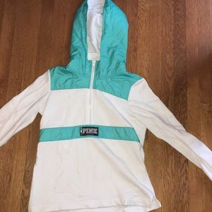 PINK Teal and White Hoodie!